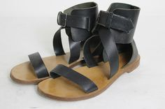 authentic CHLOE gladiator BLACK leather sandals SZ 38 The perfect vacation/summer sandal!! Love how these work with EVERYTHING in your wardrobe!! On my Valentines day list!!