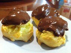Chocolate Custard Profiteroles