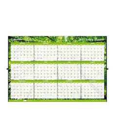 Look at this #zulilyfind! Green Nature Laminated Yearly Wall Planner…
