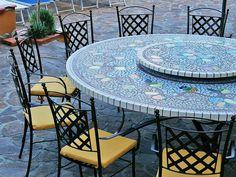 Tavolo Da Giardino In Ferro E Mosaico.36 Fantastiche Immagini Su Tavoli In Mosaico Mosaic Table Top
