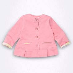Baker by Ted Baker Babies pink peplum hem sweat jacket baby infant toddler