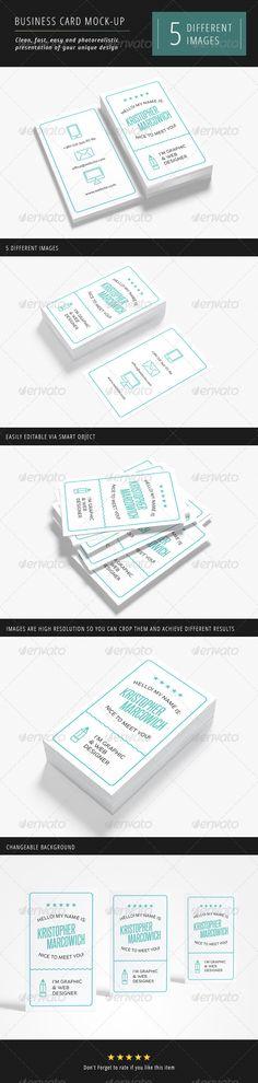 Business Card Mock-up - GraphicRiver Item for Sale