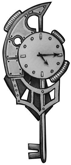 Steampunk Key Tattoo Design by CheriAnnCSW