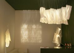 Optical fiber decor showcase