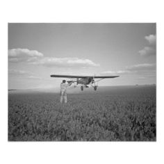 A crop dusting plane flies low over a beanfield. Vineland, New Jersey, White Art, Black And White, Aviation Art, Custom Posters, Vintage Decor, Custom Framing, Wall Art Decor, Vintage Photos, Artwork