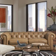 Chester living room with allegro tables, living room furniture, 2015 CORT Signature Collection
