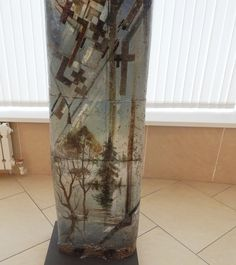 Червяков А.Д. Декоративная композиция «Никола» (фрагмент), h 2м 14 см шамот, гор. эмали