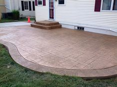 Real Help Custom Concrete Company of Buffalo and Western New York is local, licensed, and insured. View our stamped concrete gallery! Poured Concrete Patio, Stamped Concrete, Backyard Patio, Backyard Ideas, Buffalo, Bob, Outdoor Decor, House, Courtyards