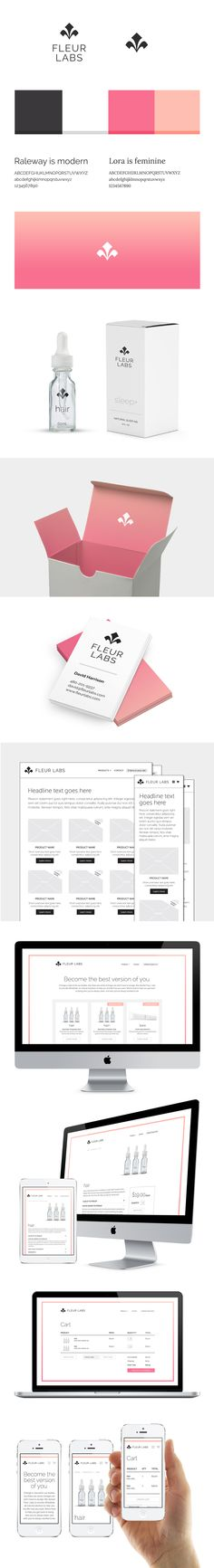 FleurLabs brand design by Strong Design #branding #logo #webdesign