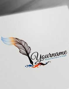 Fountain Pen Logo Design Maker – Free feather pen Logo Maker Online Create a logo online with this amazing feather logo templates and the best feather pen Maker logo png Fountain Pen Logo Design Free feather pen Logo Maker Online Logo Maker Software, Logo Maker App, Logo Maker Free, Company Logo Maker, Writer Logo, Conception 3d, Hd Logo, Logo Pen, Craft Logo