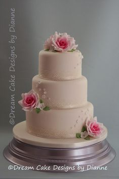'INGA' ~ Beautiful 3 tier white wedding cake with pink sugar roses, rose dome topper and blossoms Luxury Wedding, Our Wedding, Rose Dome, Small Intimate Wedding, Pink Sugar, Dream Cake, Wedding Gallery, Celebration Cakes, Celebrity Weddings