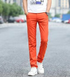 Mens Casual Cotton Slacks Pants Khakis Black Clothing Men Pant Slim Fit Chinos Straight Trousers For Men UK-503