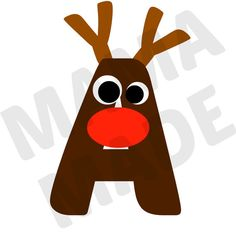 Boy's Reindeer Alphabet Shirt Boy's Reindeer by mamamadebows, $15.00+