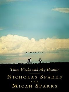 Three weeks with my brother.  I love Nicholas Sparks, it was interesting to read a little about his life.  I enjoyed hearing about his childhood memories.