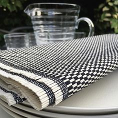 Woodnotes table textile Morning col. black-white. Textiles, Table, Black And White, Inspiration, Instagram, Products, Home, Biblical Inspiration, Black White