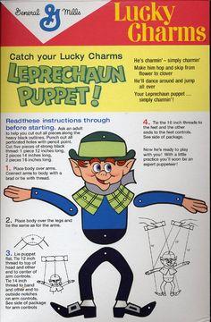 Engenharia de papel - Paper Engineering - Ingeniería de papel: Brinquedo marionete - Duende irlandês!