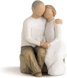 Amazon.com: Willow Tree Anniversary, Sculpted Hand-Painted Figure: Home & Kitchen Hand Carved, Hand Painted, Create A Family, Willow Tree, Collectible Figurines, Sculpting, Carving, Kansas City, Wedding Anniversary
