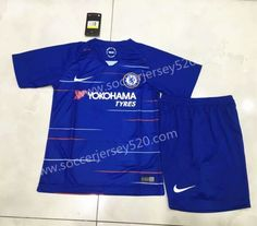 be527662640 2018-19 Chelsea Home Blue Kid/Youth Soccer Uniform Kids Uniforms, Soccer  Uniforms