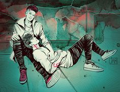Malec: At The Rooftopby DakotaLIAR—–Feel free to ask me about the commissions!Write to dakotaliar@gmail.com :)