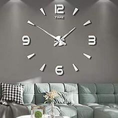 3d Mirror, Acrylic Mirror, Marco Diy, Skeleton Wall Clock, 3d Sticker, Mirror Stickers, Retro Clock, Clock Decor, Wall Clocks