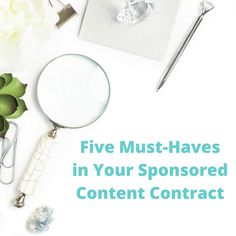 Five Must-Haves in Your Sponsored Content Contract