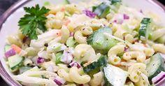 Combinaison du tonnerre... Les saveurs sont phénoménales et c'est parfait pour l'été! Cold Meals, Vegetable Recipes, Pasta Salad, Potato Salad, Seafood, Salads, Good Food, Keto, Vegetables