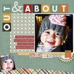 scrapbook title idea for the photo of S in the stroller