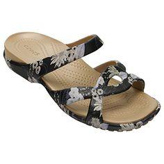 7bf5806acf6f crocs Womens Meleen Twist Graphic Flat Sandal BlackFloral 9 M US  gt  gt  gt
