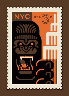 Clark Orr Solo Art Show Featuring His Pop Culture Postage Stamp Designs at West King Kong, Postage Stamp Design, Postage Stamps, Cultura Pop, Stamp Printing, Screen Printing, Pop Culture Art, Arte Pop, Geek Art