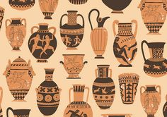 Greek Pottery pattern by harrydrawspictures, via Flickr