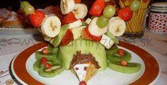 Ovocný ježko - inšpirácia (postup sa zobrazí po kliknutí na obrázok)