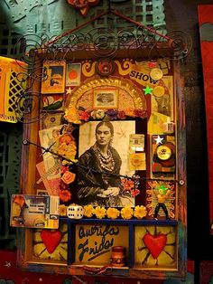 Assemblage - Altar to Frida - Mexican Days of the Dead.