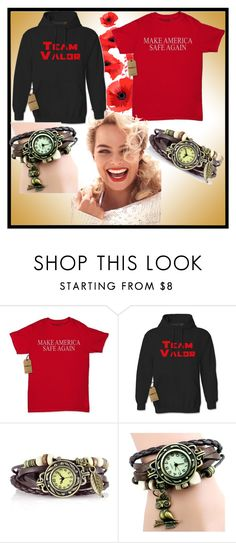 """Expression Tees-2"" by dzemila-c ❤ liked on Polyvore featuring Valor and vintage"