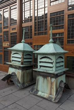 Ewart and Sons copper roof vents.