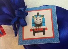 PARTY PACK Sets of 6 to 12 - Thomas the Train Blue Favor Bags (Filled) by TeatotsPartyPlanning on Etsy