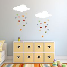 Raining Hearts - Cloud and Heart Stencil Set
