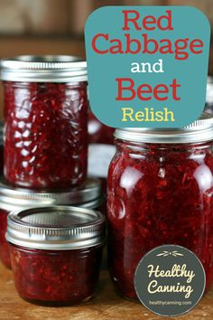Red Cabbage and Beet Relish - Healthy Canning Beet Relish Recipe, Relish Recipes, Beet Recipes, Chutney Recipes, Canning Recipes, Canning 101, Jerky Recipes, Veggie Recipes, Recipies