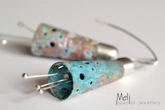 Flower Earrings,Sterling silver and patina copper earrings by MeliSpecialJewellery on Etsy Copper Earrings, Statement Earrings, Sterling Silver Earrings, Etsy Earrings, Earrings Handmade, Dangle Earrings, Poppy Brooches, Hanging Earrings, Contemporary Jewellery