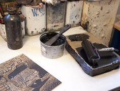 L'école Duperré - Paris - Atelier de gravure-impression (etching studio, printmaking)