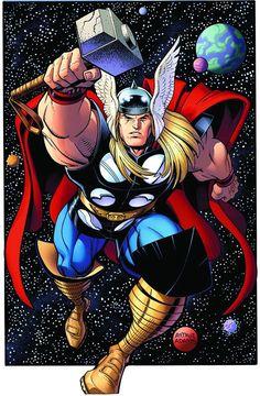 Thor by Arthur Adams #ArthurAdams #Thor #Asgard #Avengers #OdinSon #DonaldBlake #GodofThunder #Mjolnir