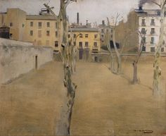 Courtyard of the old Barcelona prison ,Ramon Casas
