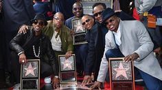 "Boston's own New Edition, the R&B megagroup that topped the charts in the 1980s, received their star on the Hollywood Walk of Fame on Monday. The star, in the recording category, was unveiled at 7080 Hollywood Blvd. It's the 2,600th star on the Walk of Fame. New Edition members Ronnie DeVoe, Ricky Bell, Michael Bivins, Bobby Brown, Ralph Tresvant and Johnny Gill were all in attendance for the ceremony. The group formed in 1983 and rose to fame with hits like ""Candy Girl,"" ""Cool ..."
