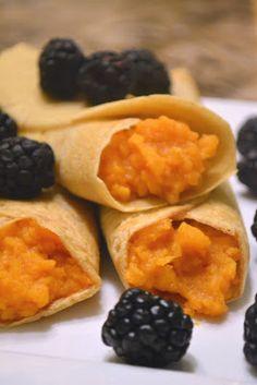 Honey Kissed Kitchen: Sweet Potato Crepes w/ Blackberries