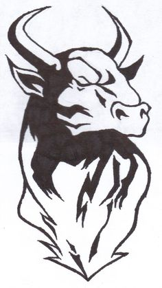 Taurus Bull Drawing Bull tattoos