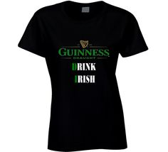 guinness beer logo tshirt drink irish beer st.patrick's day