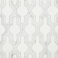 Coming Soon!!!    Delicate Gothic Design The Mystique collection, from Country Floors, draws upon history and tradition to project richness, opulence, and otherworldly elegance. The tiles in this collection, are reminiscent of a gothic Mediterranean designs. The Mystique Collection tiles ranges in shades of white, mute grey and silver, featuring different geometric patterns. The tiles are available in the standard eight by eight (8 x 8) size. Tile feature: Dolores
