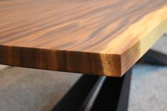 Monkey Pod Slab Table Top with art metal base Counter Top Sink Bathroom, Slab Table, Metal Fabrication, Houzz, Butcher Block Cutting Board, Blacksmithing, Metal Art, Metal Working, Craftsman