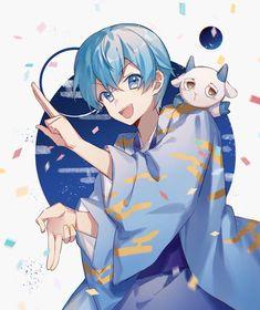 Boys Anime, Cute Anime Boy, Otaku Anime, Anime Chibi, Kawaii Anime, Manga Anime, Anime Blue Hair, Magia Elemental, Anime Prince