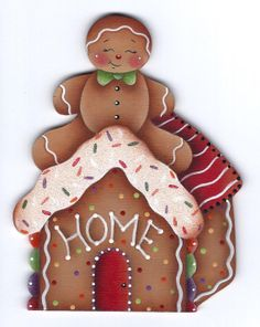 CHRISTMAS GINGERBREAD HOUSE CLIP ART