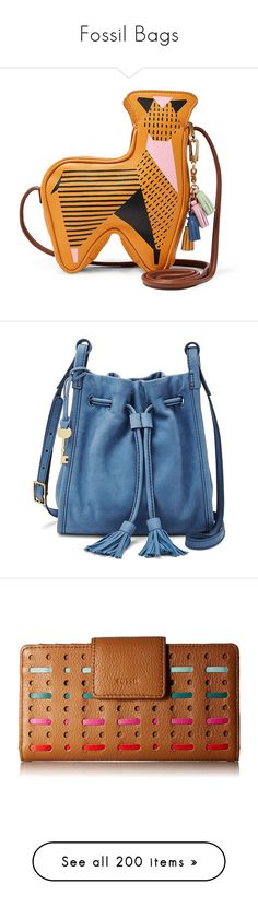 """""""Fossil Bags"""" by brassbracelets ❤ liked on Polyvore featuring bags, handbags, shoulder bags, purses, leather shoulder handbags, shoulder handbags, fossil purses, leather crossbody purse, handbags crossbody and blue crossbody"""